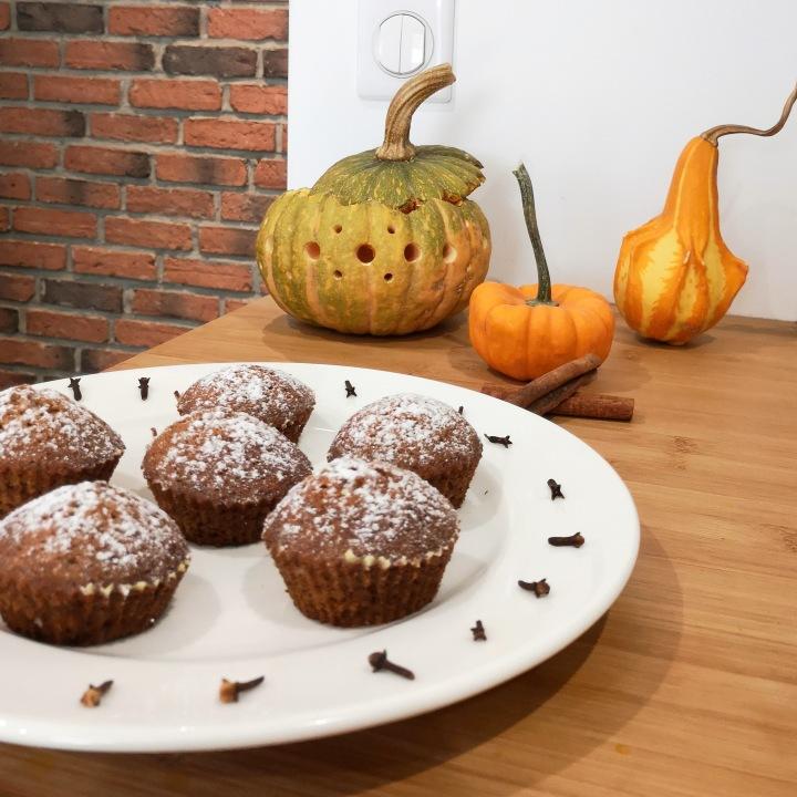 Muffins au potiron et auxépices